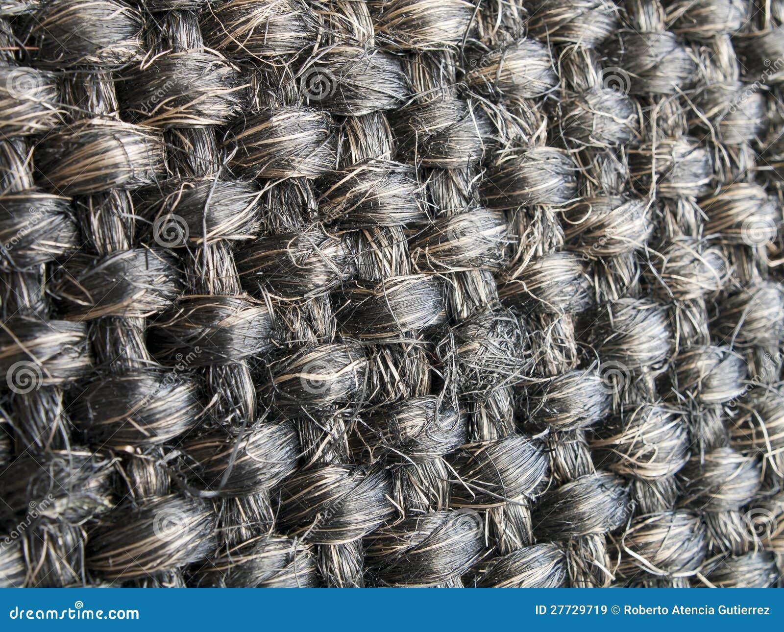 Muster gesponnene Wollefasern