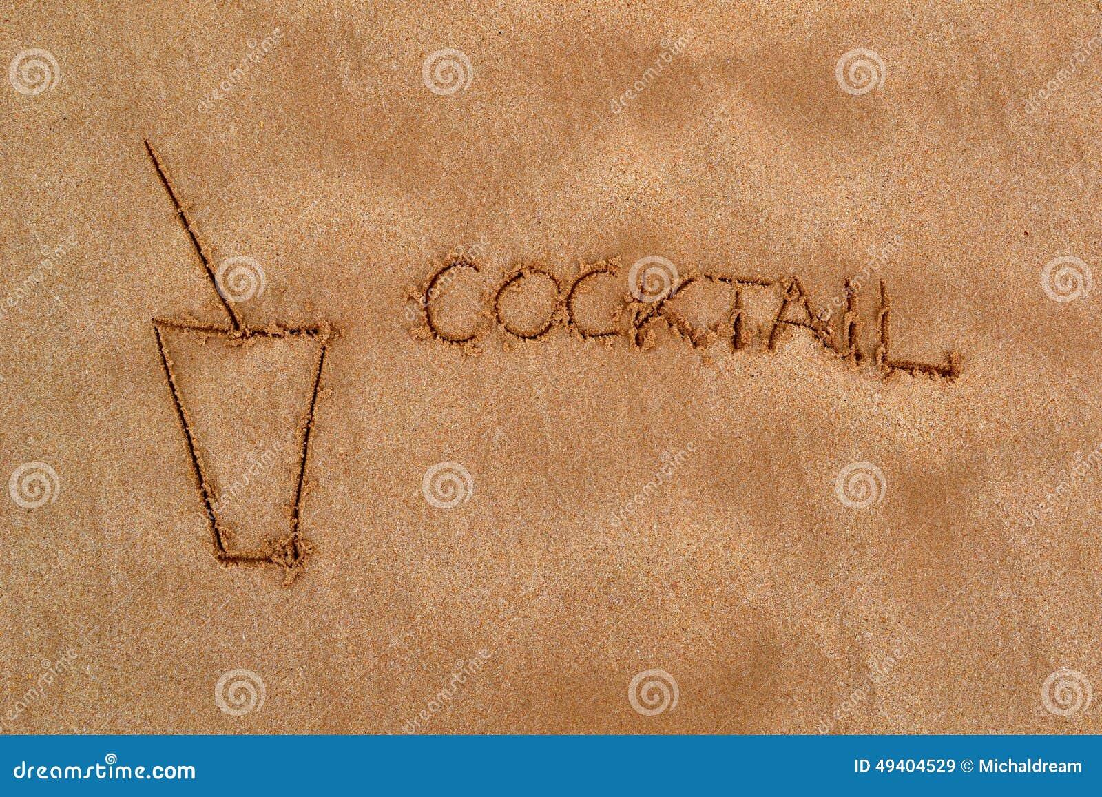 Download Muster im Sand - Cocktail stockbild. Bild von sonnig - 49404529