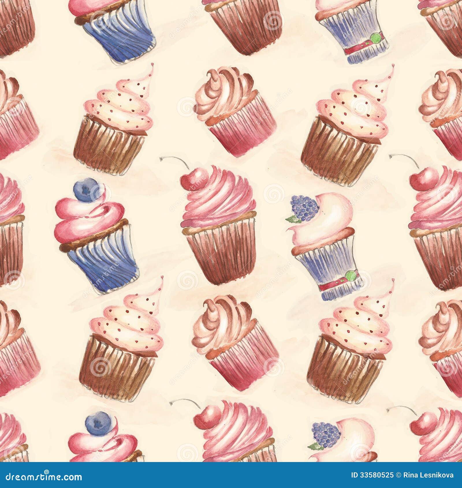 download muster mit kuchen kleine kuchen stock abbildung illustration von kirsche schwamm - Kuchen Muster