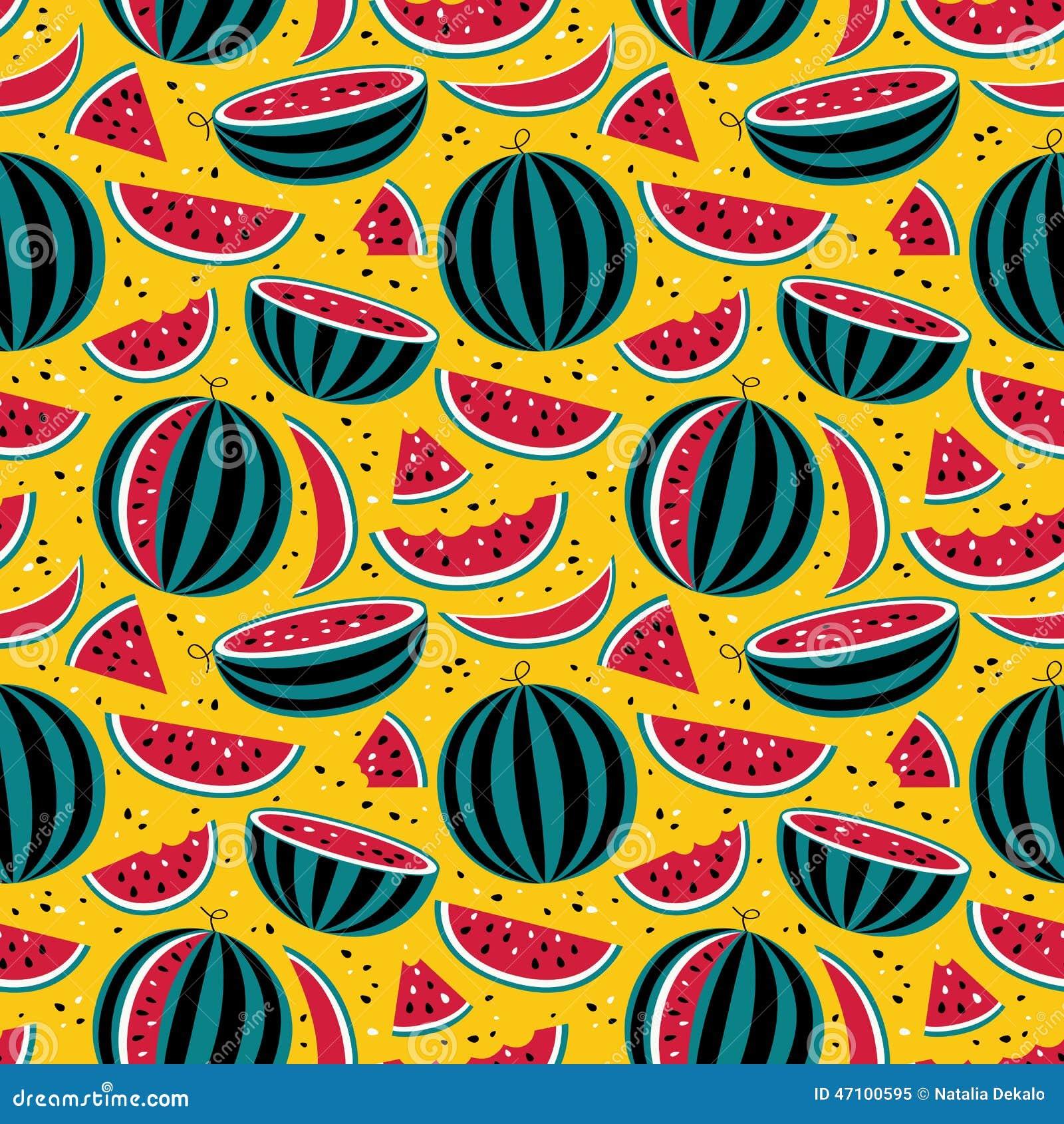 Muster mit Wassermelonen