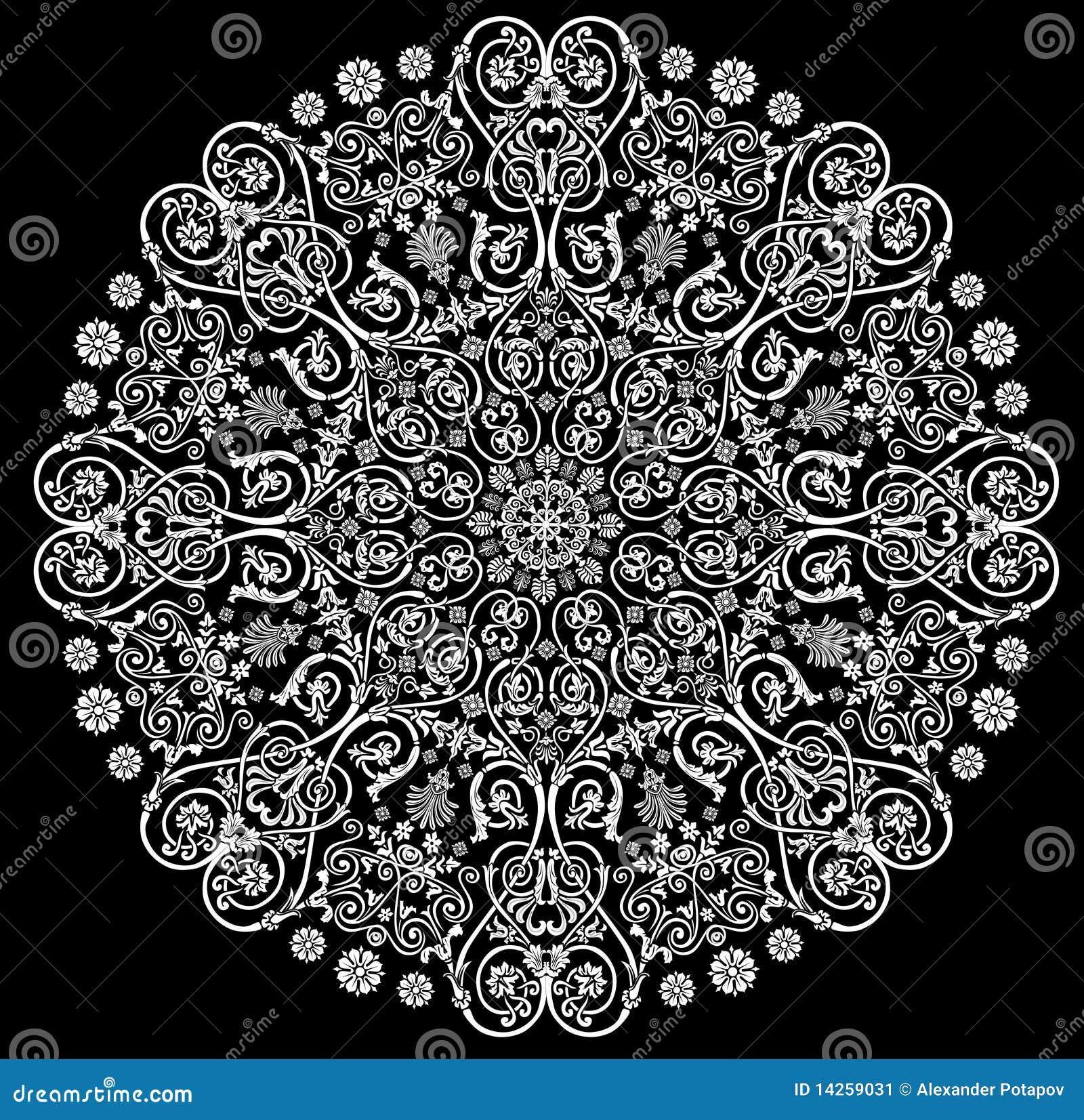 Muster mit Weiß verzierte um