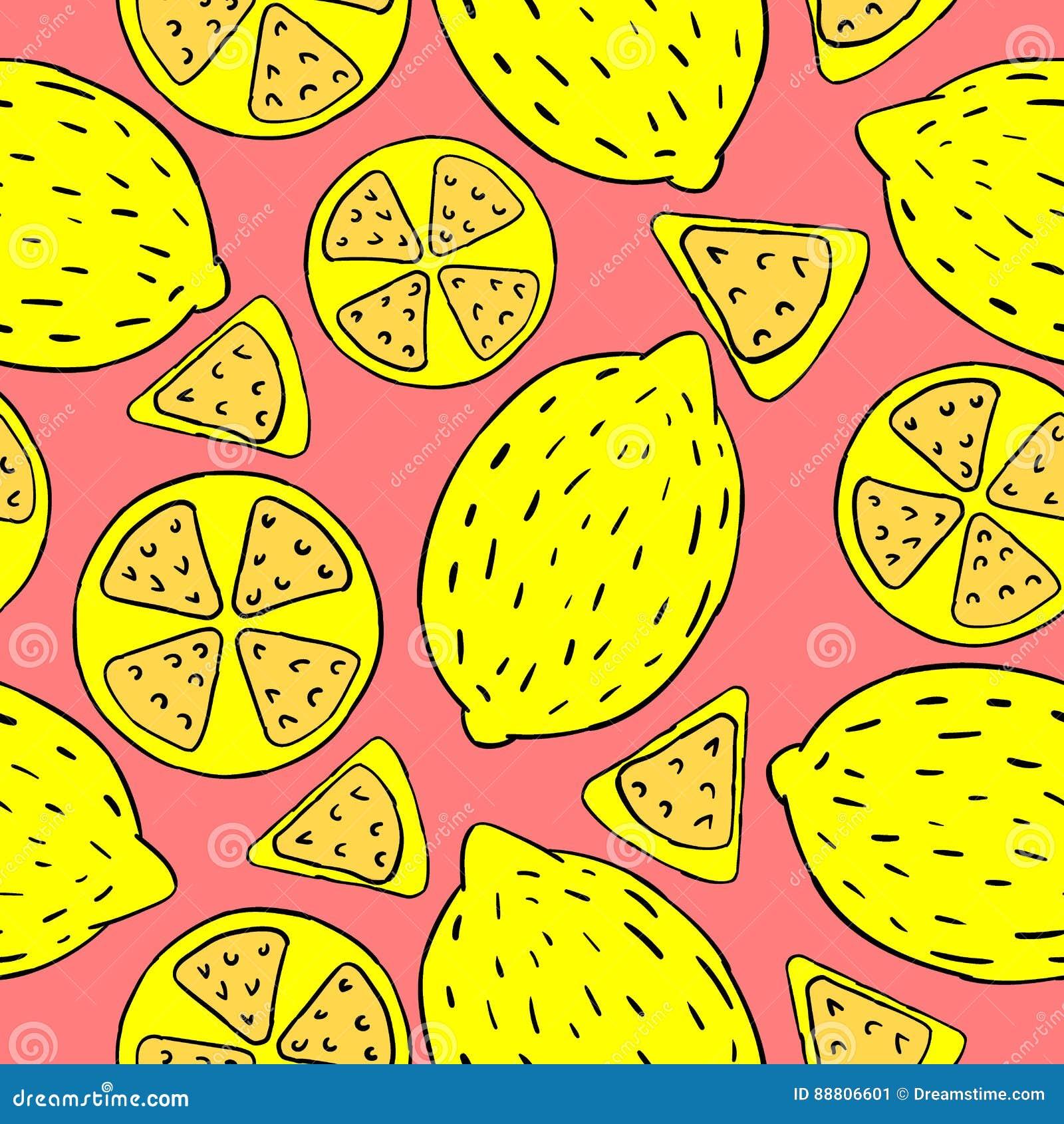 Muster von den Zitronen