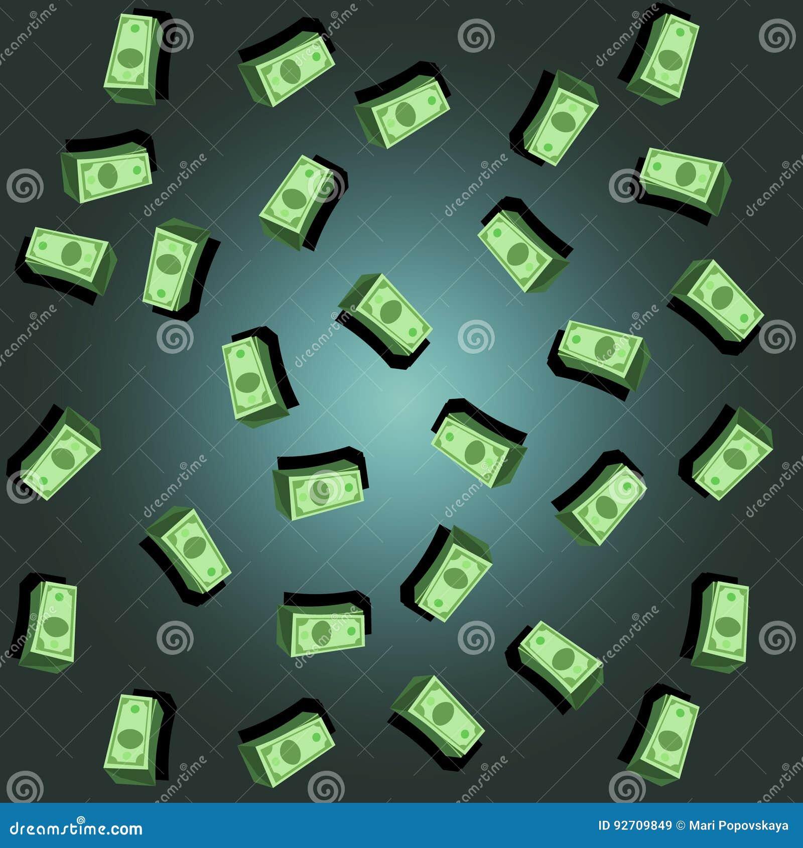 Muster von 5000 Rubeln Rechnungen Dollar-Regenhintergrund