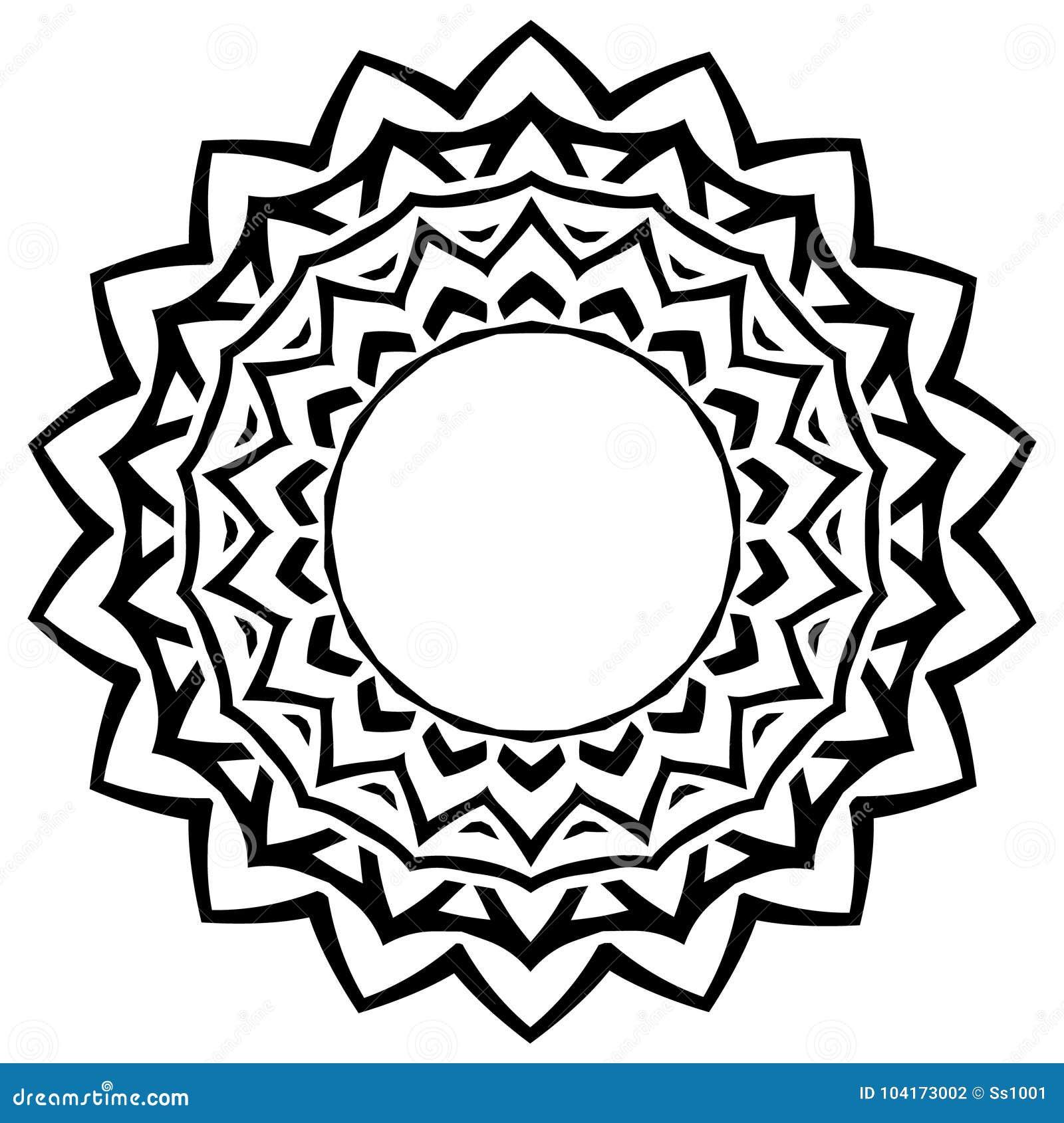 Musterrahmen vektor abbildung. Illustration von hand - 104173002