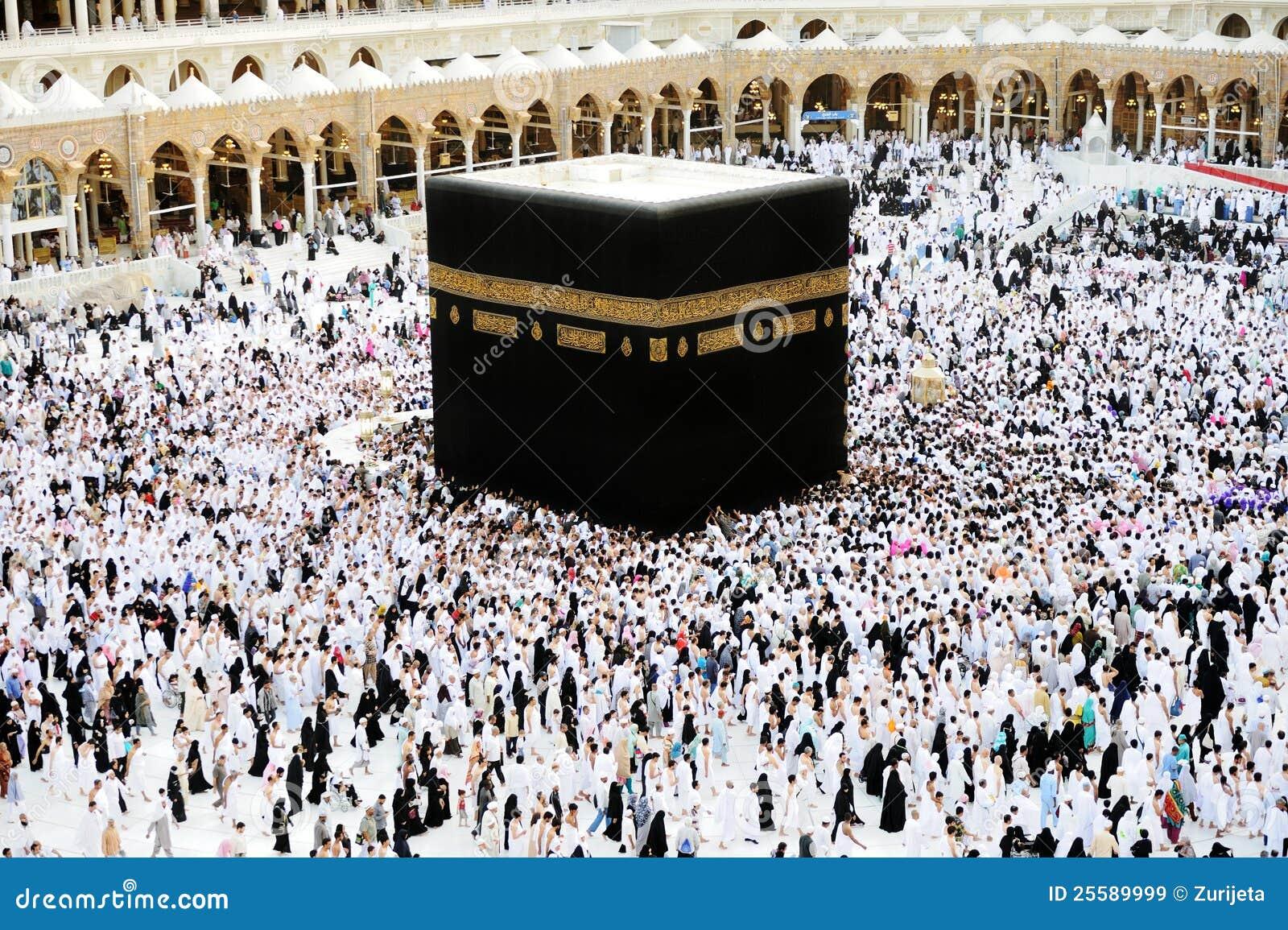 Musulmans de hadj de makkah kaaba image stock ditorial for Interieur de la kaaba