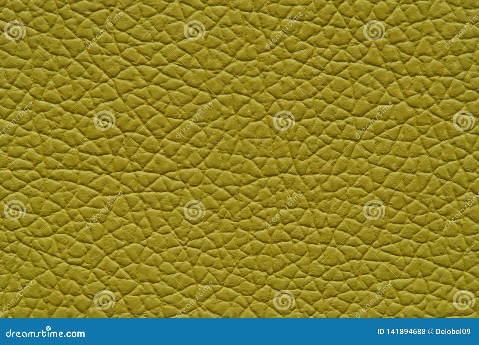 Musztardy żółta sztuczna skóra z wielką teksturą