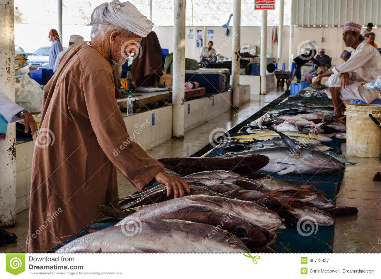 Mutrah Old Fish Market Oman Editorial Photography - Image of arabic