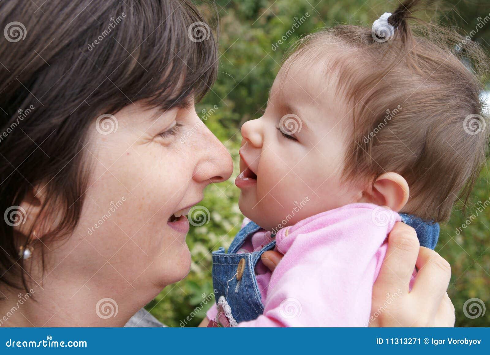 Mutter mit Schätzchen