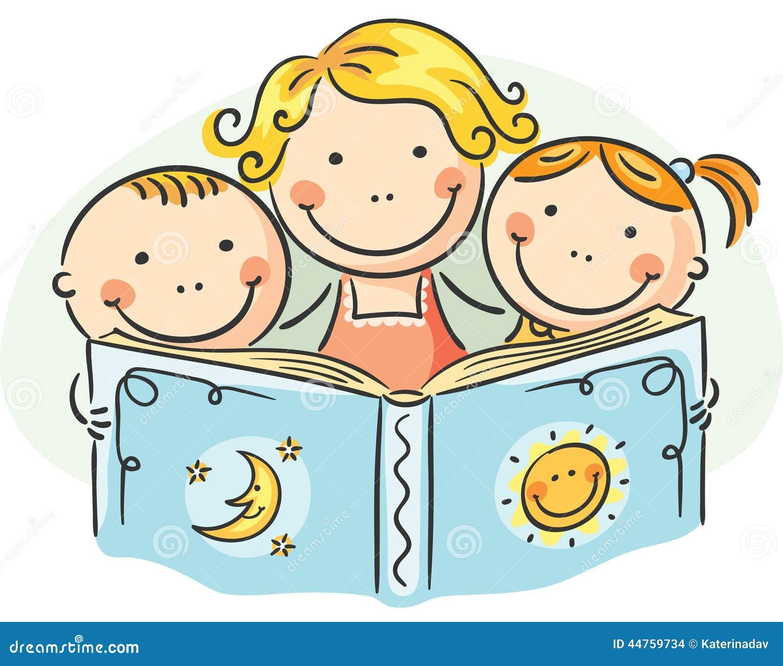 mutter und kinder die zusammen lesen vektor abbildung illustration von familie inl ndisch. Black Bedroom Furniture Sets. Home Design Ideas