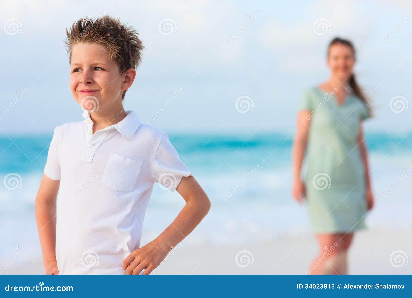 Stockfotos: Mutter und Sohn auf Ferien