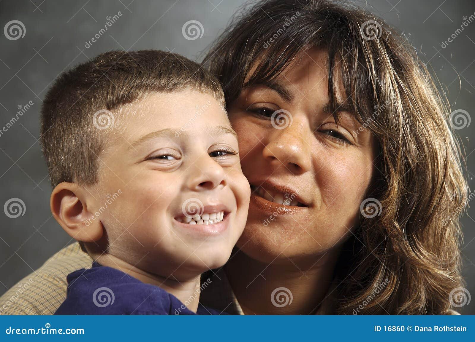 Mutter-und Sohn-Portrait