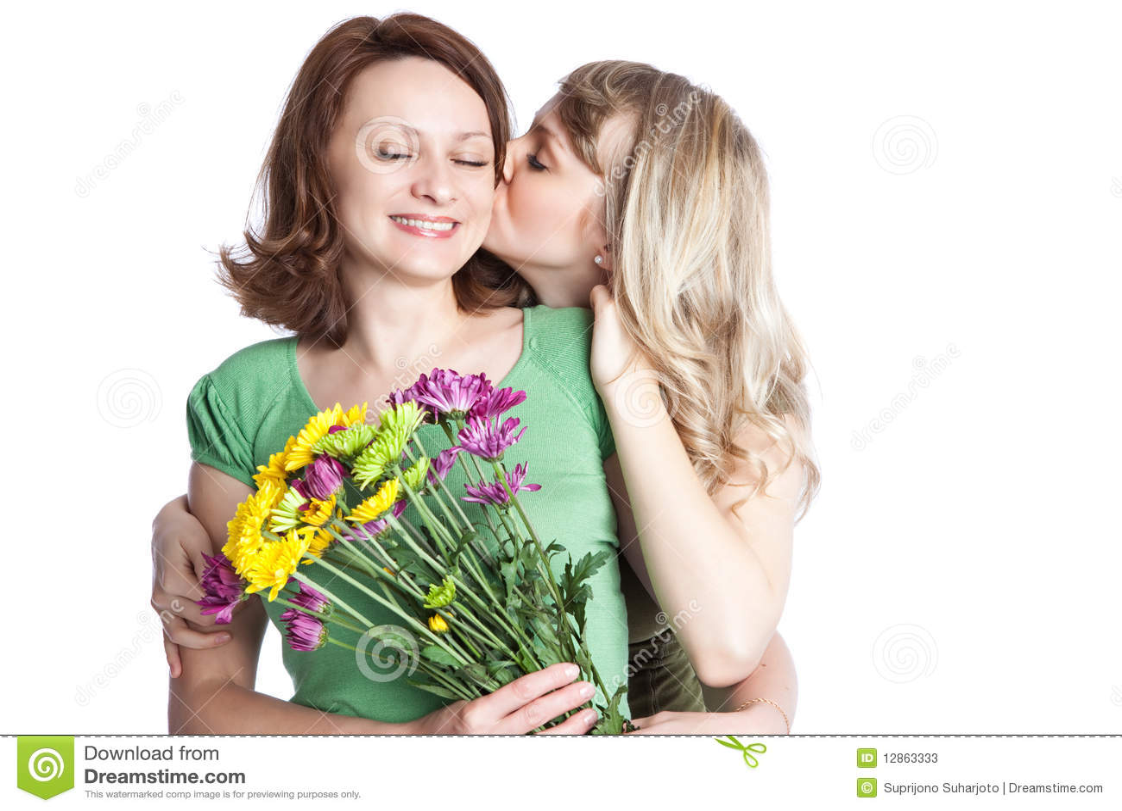 Mutter und Tochter, die Tag des Mutter feiern