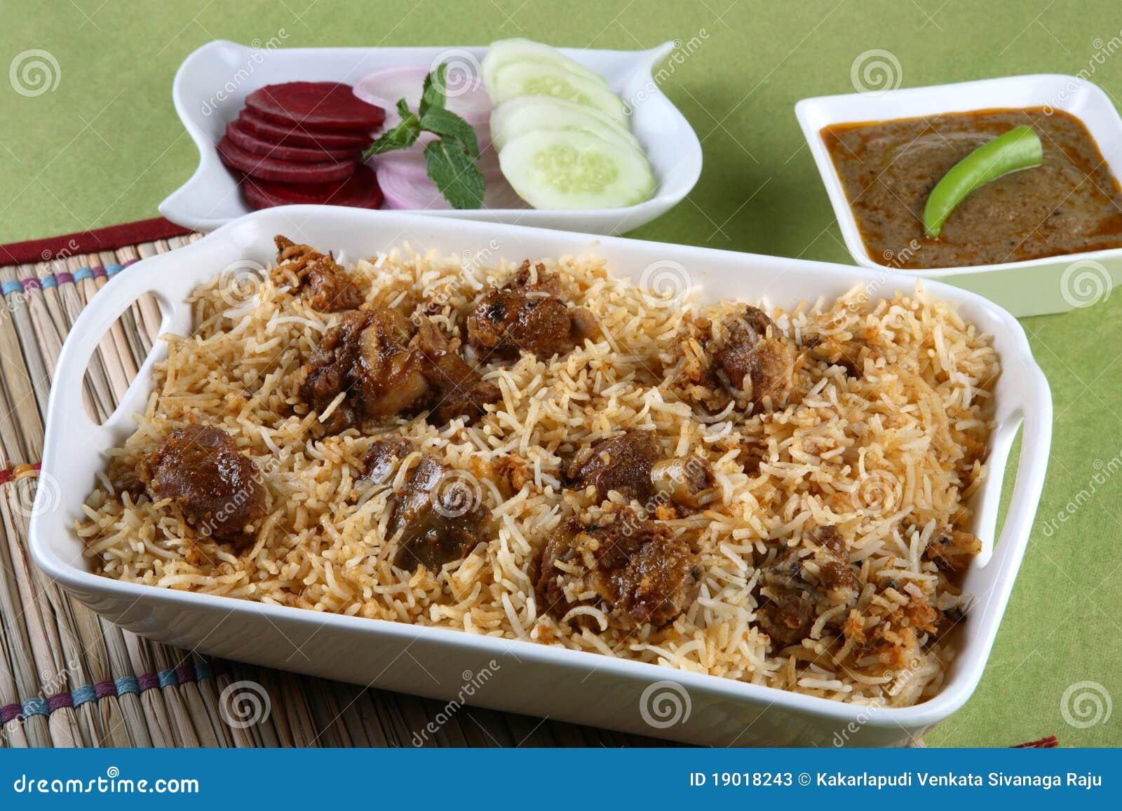 Hyderabadi biryani a popular chicken or mutton based biryani.