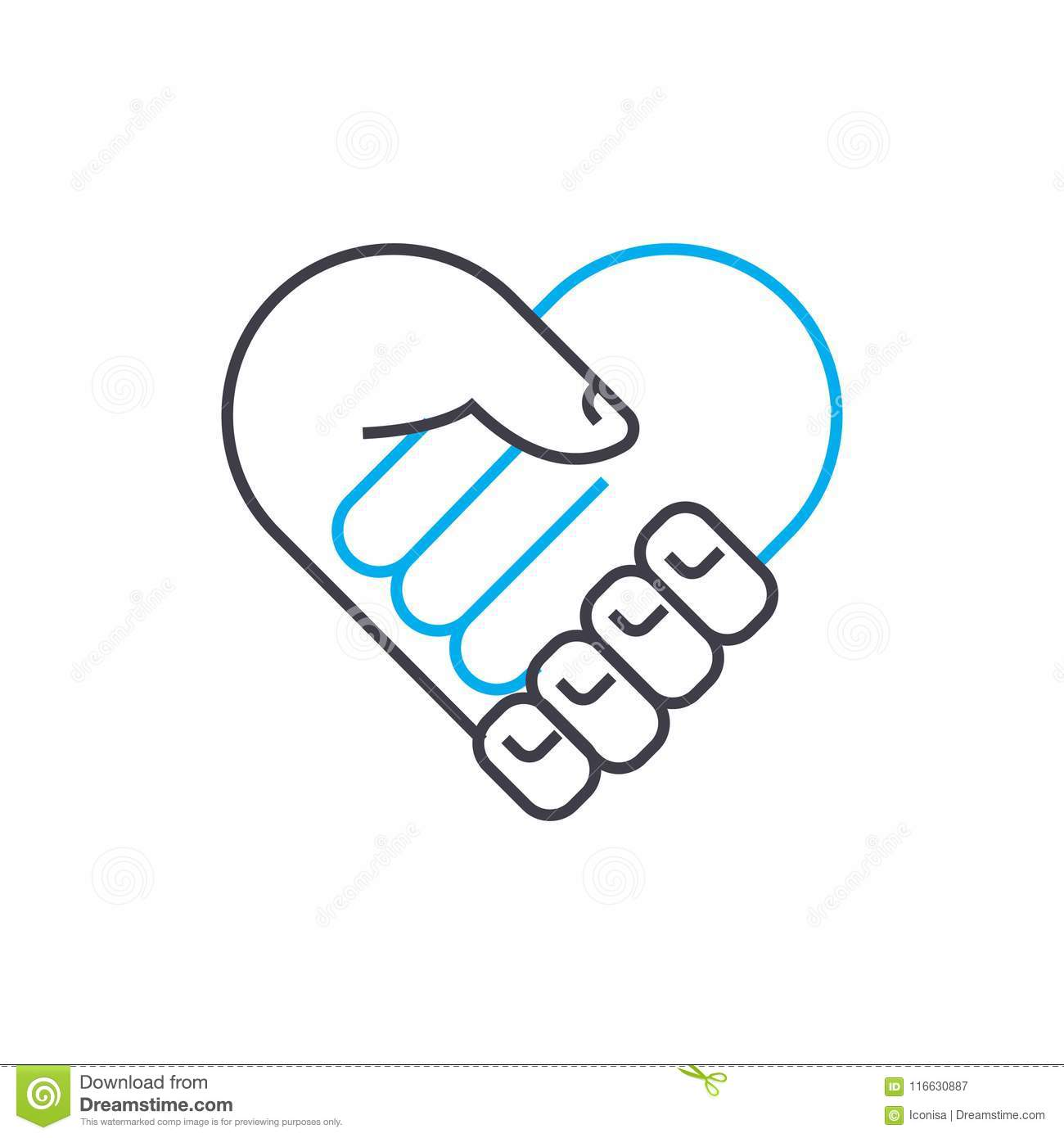 Mutual Agreement Vector Thin Line Stroke Icon Mutual Agreement