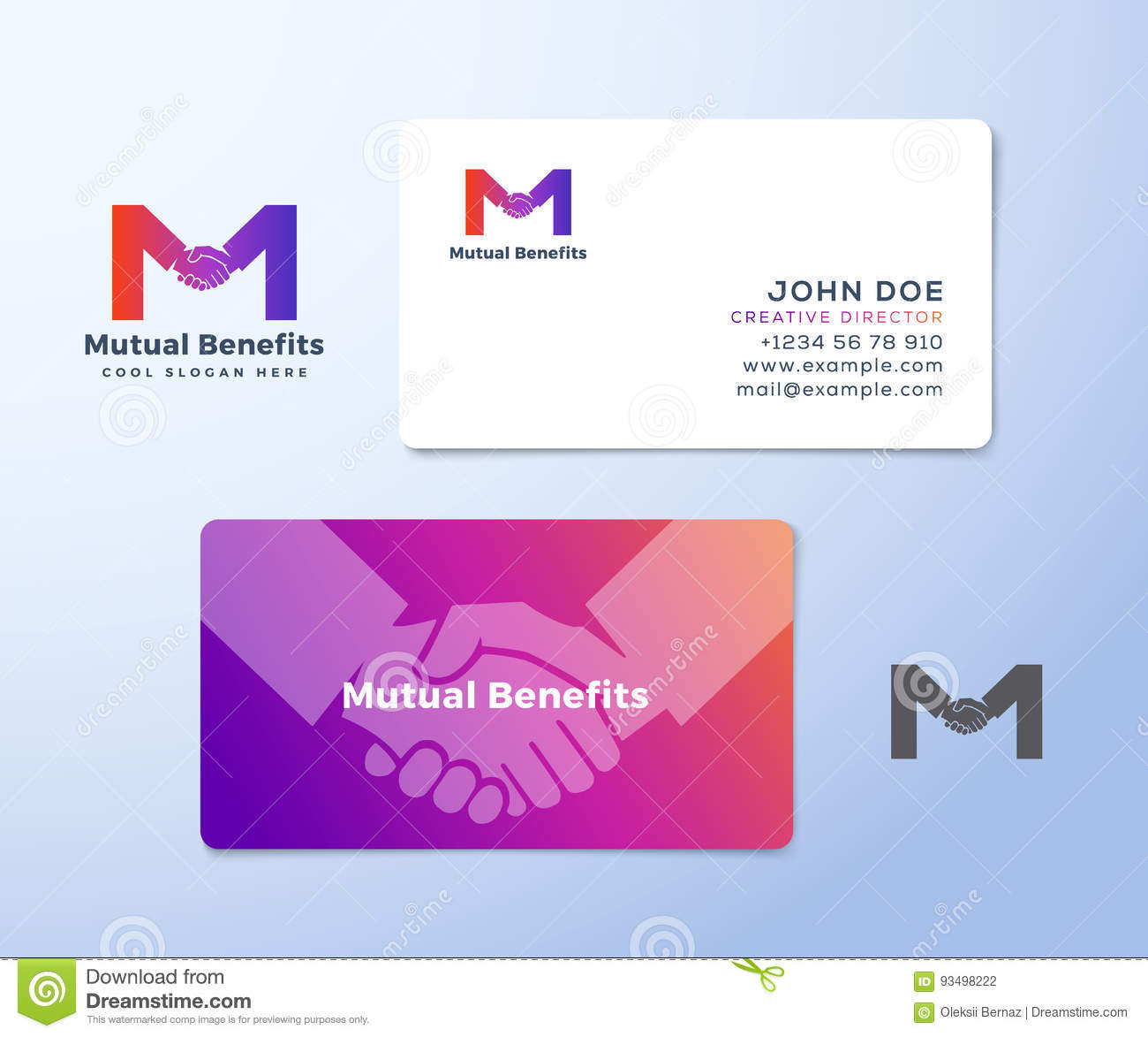 Mutual Benefit Abstract Vector Sign Symbol Or Logo Template And