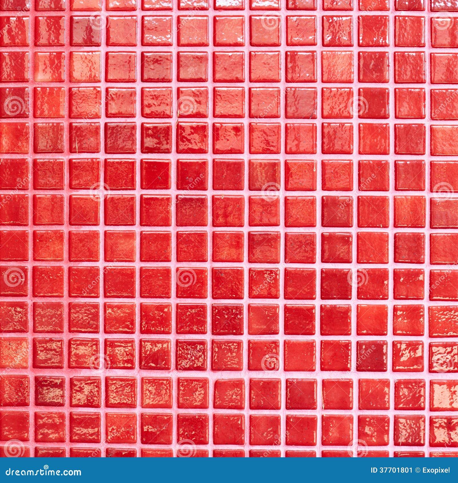 Muur met rode tegels wordt betegeld die stock afbeelding afbeelding 37701801 - Muur tegel installatie ...