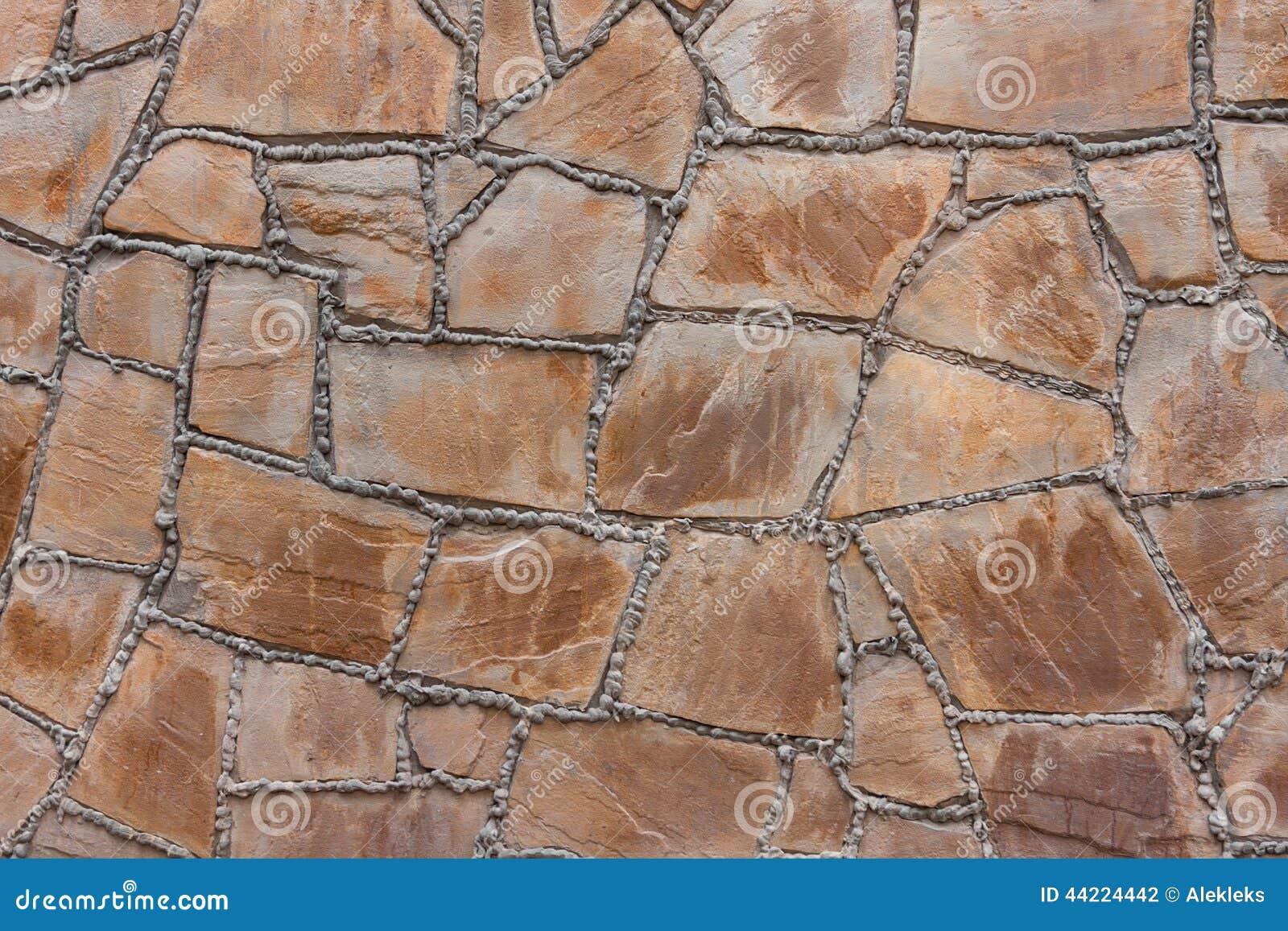 Muur van een natuursteen met cementnaden stock foto afbeelding 44224442 - Imitatie natuursteen muur tegel ...