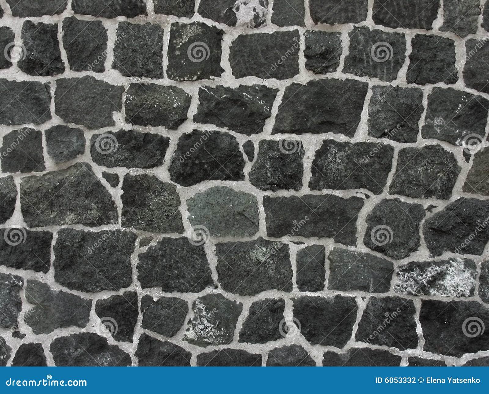 Muur Van Grijs-groene Steen Stock Fotografie - Afbeelding: 6053332