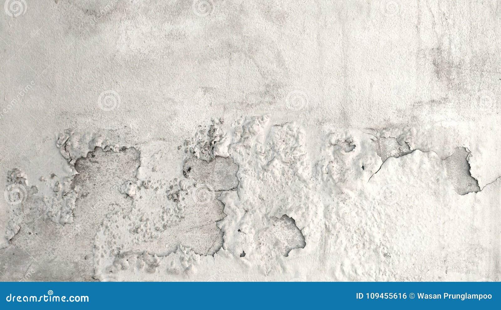 Muur van het Grunge de concrete cement met barst