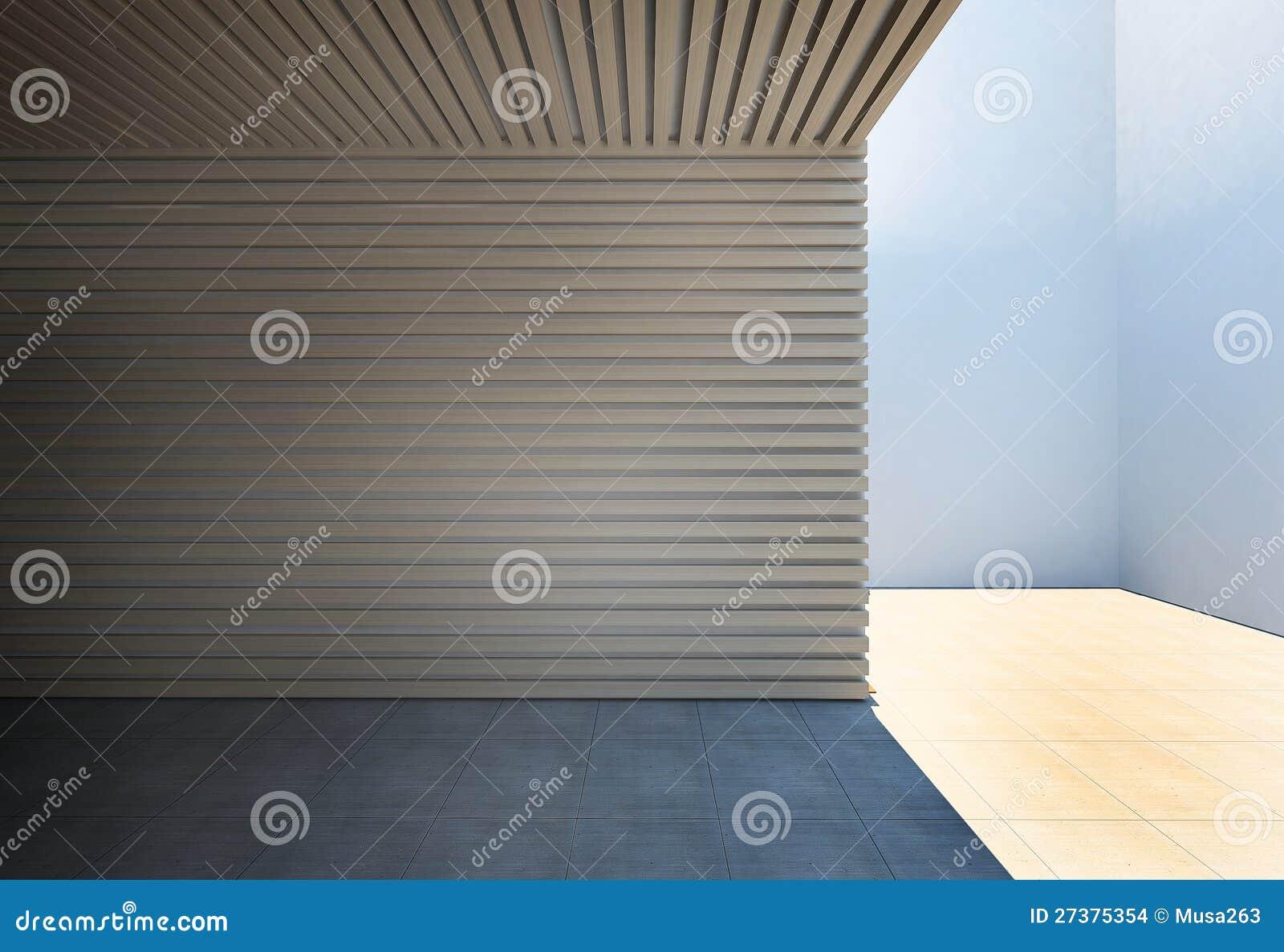 Muur Van Houten Latjes Stock Afbeeldingen - Afbeelding: 27375354