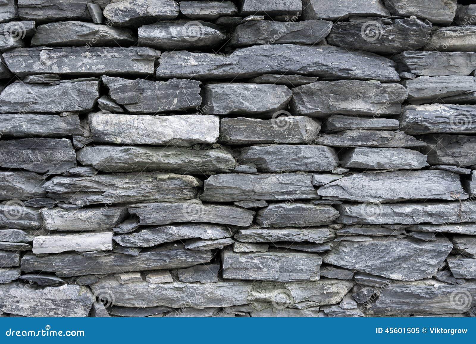 Muur van vlakke grijze stenen stock foto   afbeelding: 45601505