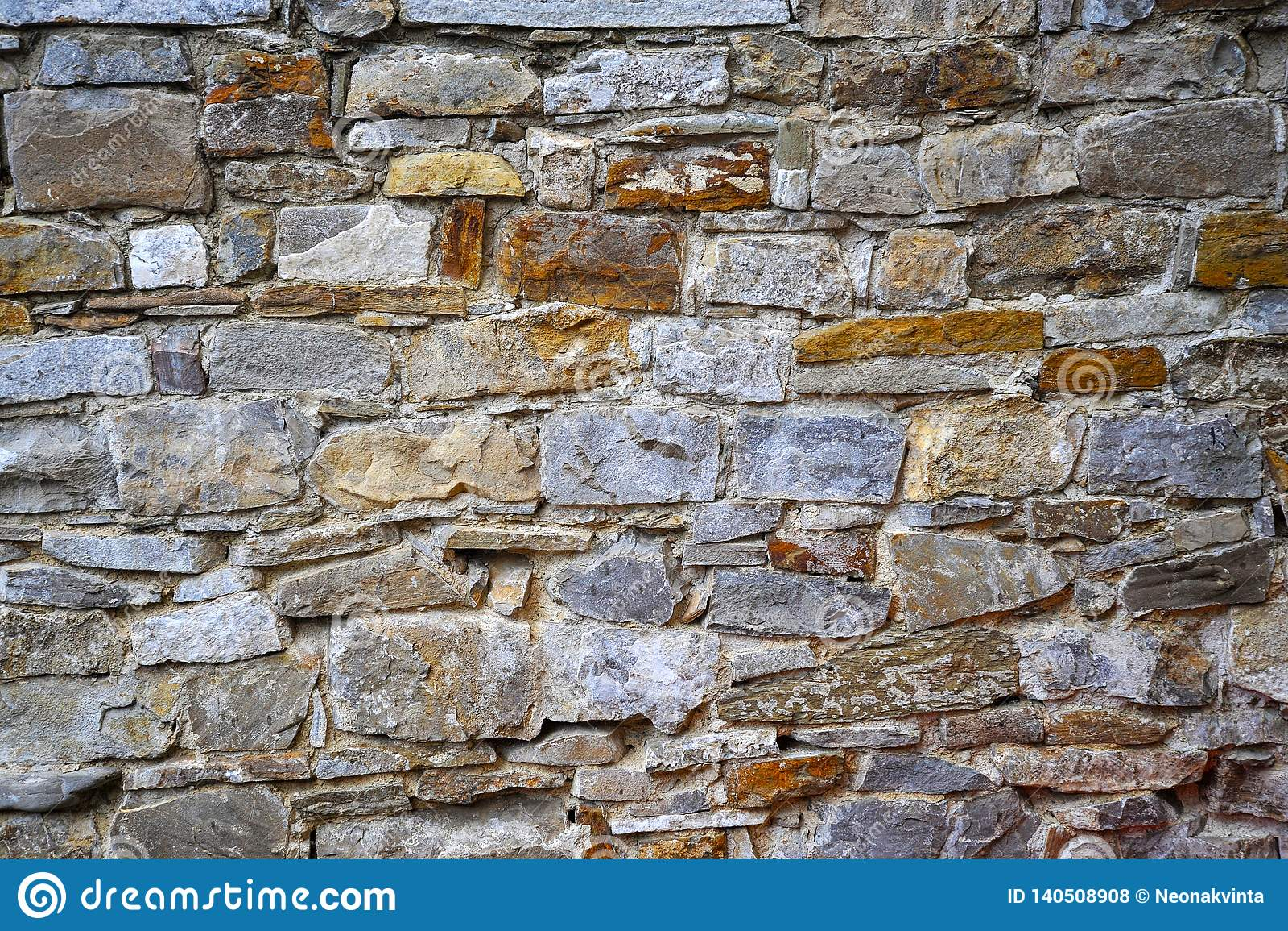 Muur voor steen of zandsteenachtergrond