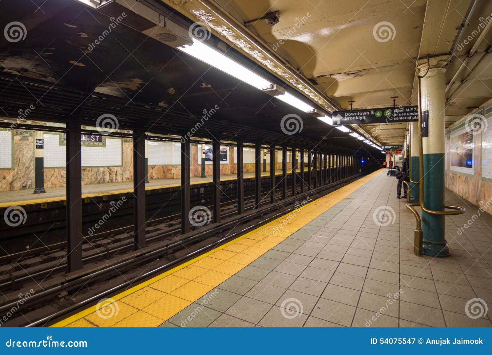 Muurst Station in New York, de V.S.