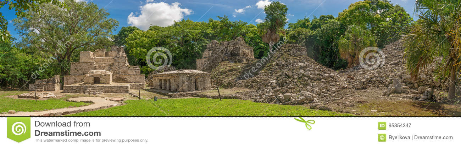 Muyil ancient Maya sites, Yucatan Peninsula in Mexico