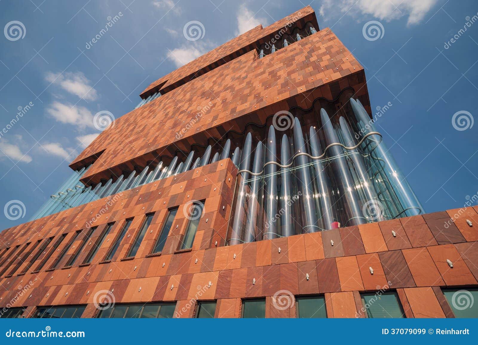 Download Muzealny Aan De Stroom, MAS, Antwerp Obraz Stock Editorial - Obraz złożonej z muzeum, architektury: 37079099