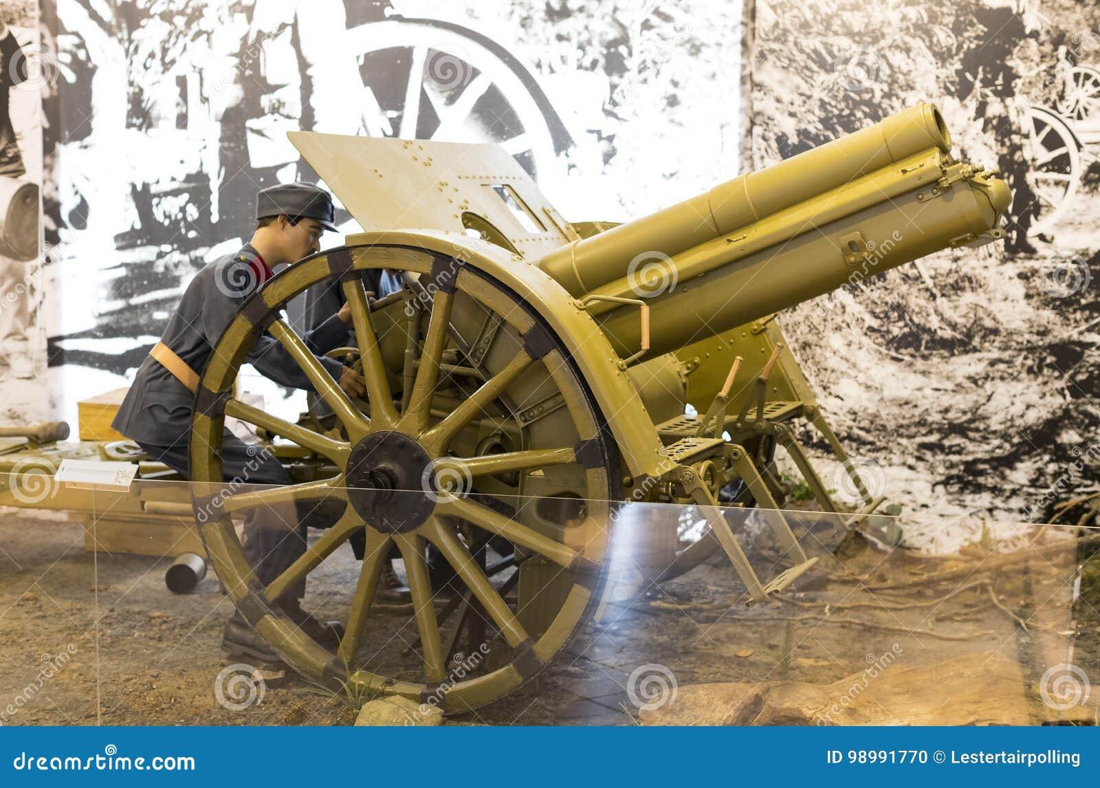Muzeum historia wojskowy Węgierski wojsko z dziejowymi eksponatami i składami na temacie wojna