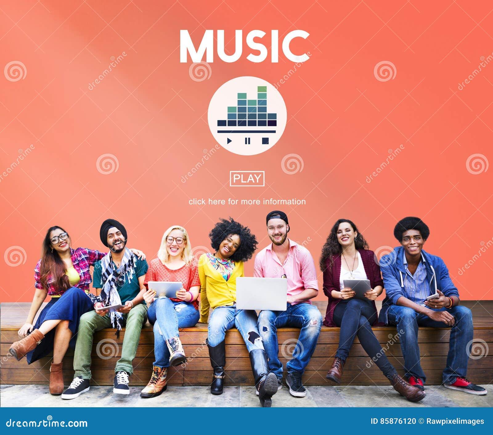 Muziek die Melody Audio Rhythm Concept spelen