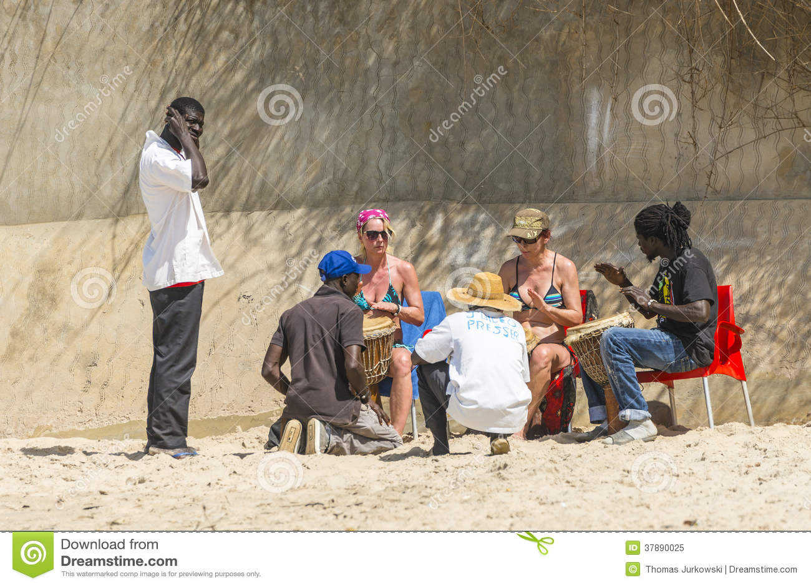 Muziek op het strand