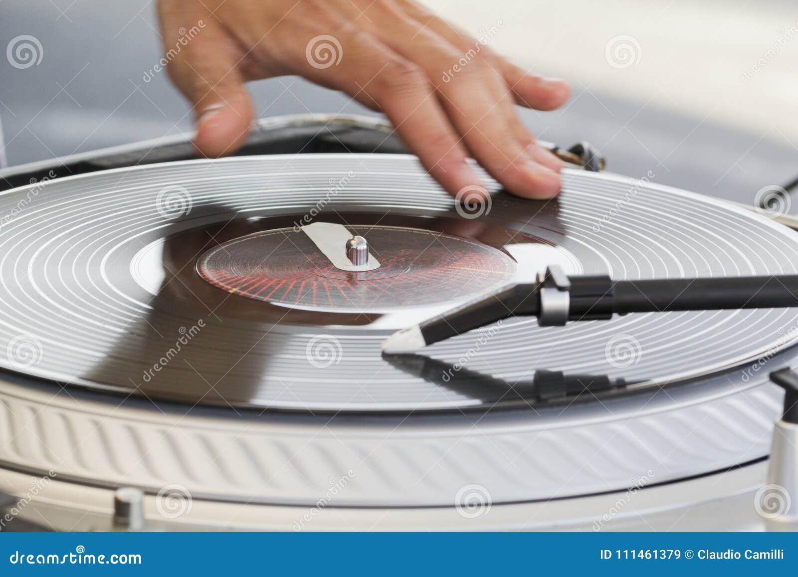 Muziek van de de Hand de skratching hiphop van DJ