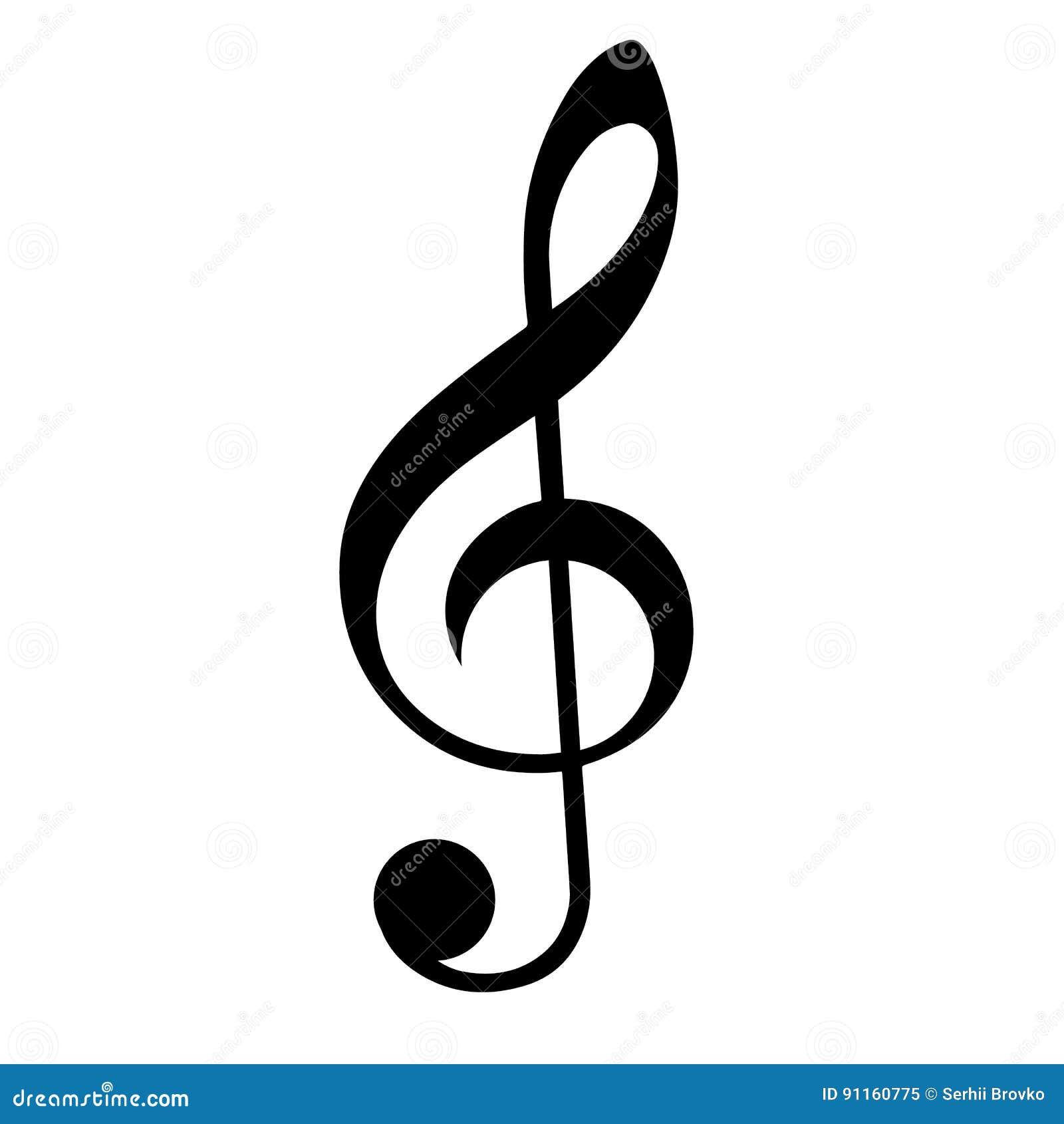 muzieksleutel vector illustratie illustratie bestaande