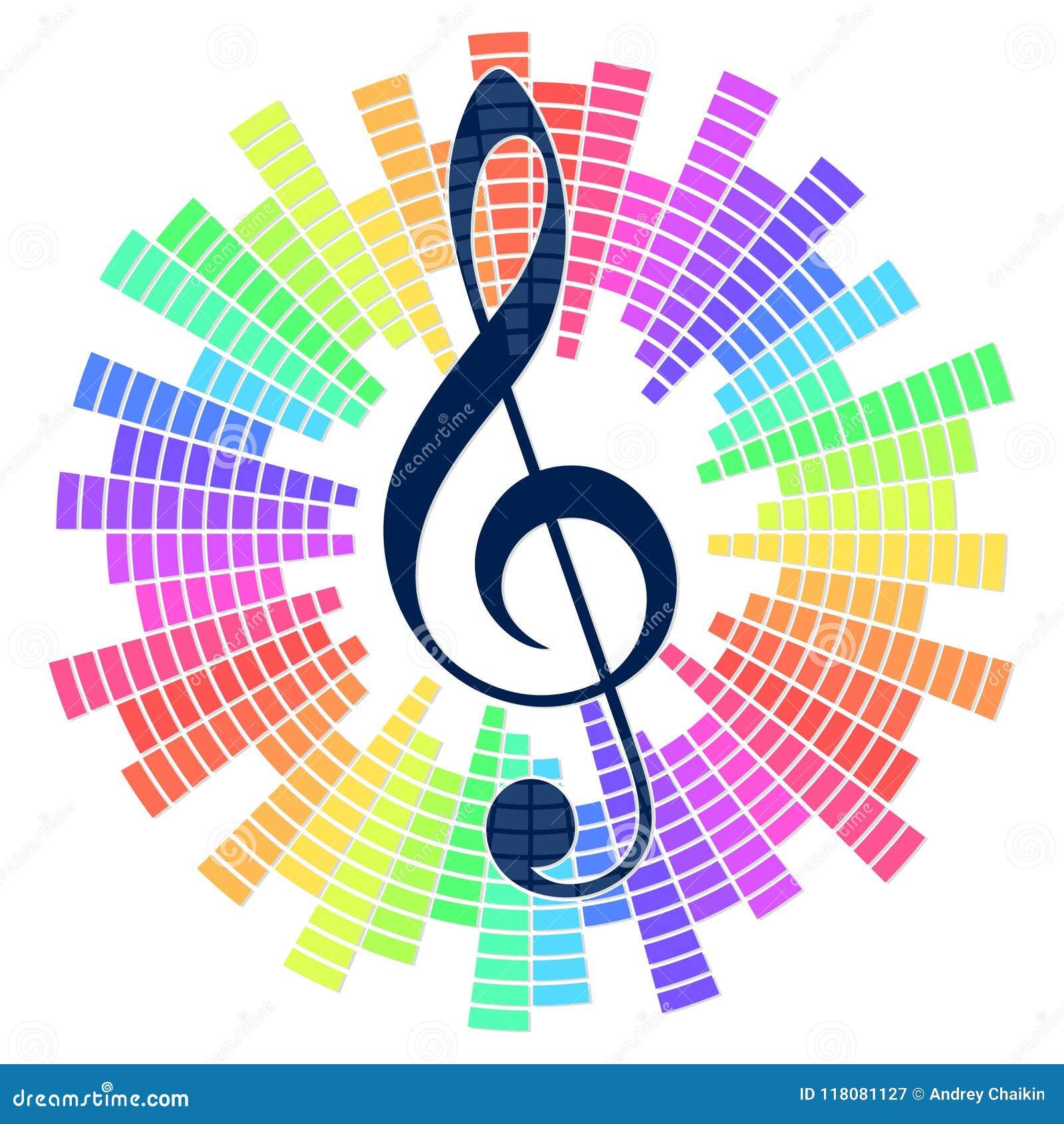 Muzikaal symbool met correcte schaal