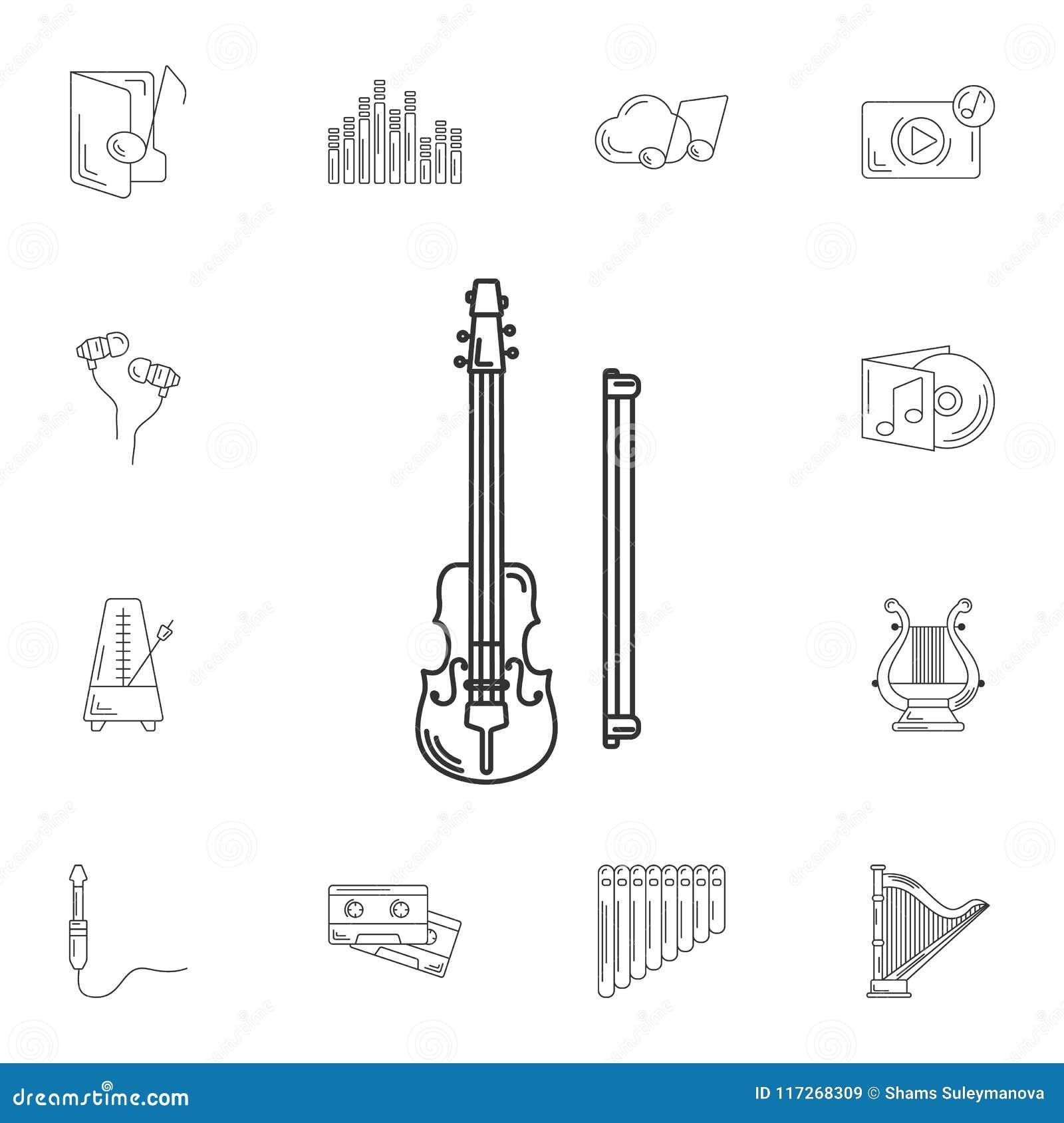 muzikaal vioolpictogram eenvoudige elementenillustratie