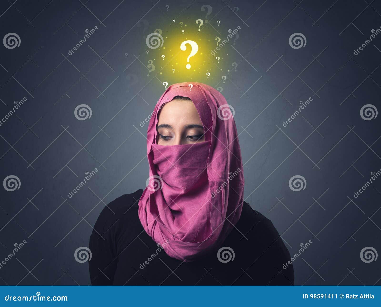 Muzułmańska kobieta Jest ubranym Niqab