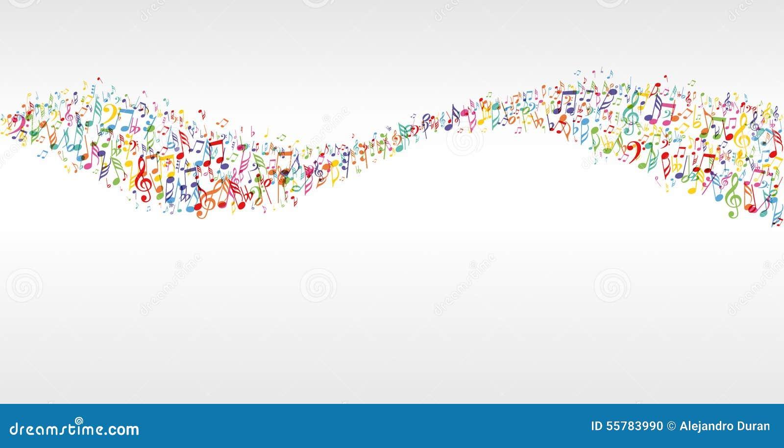 Muzyczna kolor fala