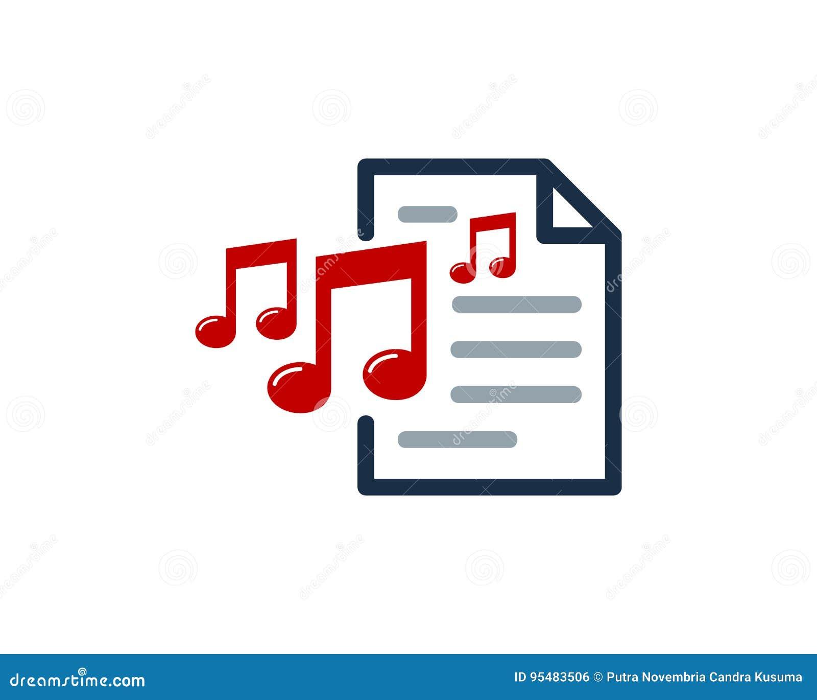 Muzyczny dokument ikony loga projekta element