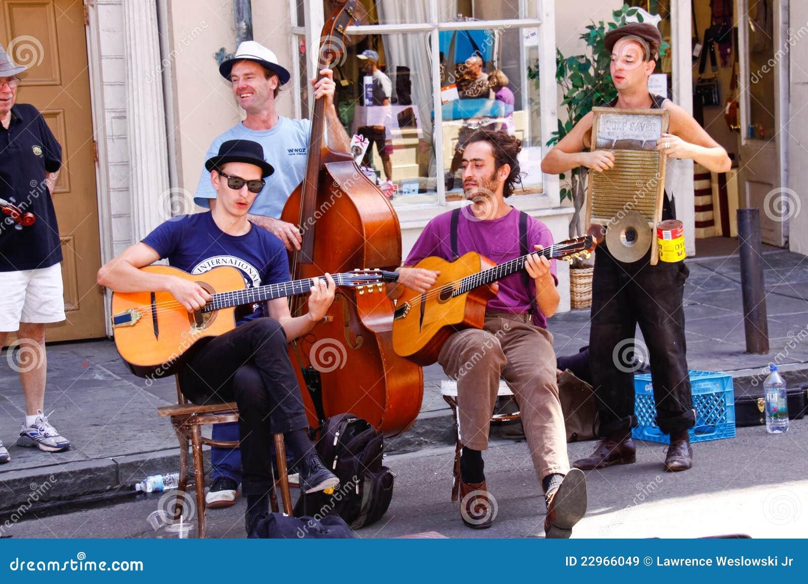 Muzyków nowa Orleans królewska ulica