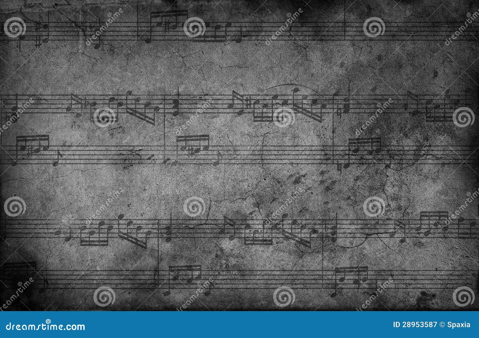Muzyk notatki. grunge tło