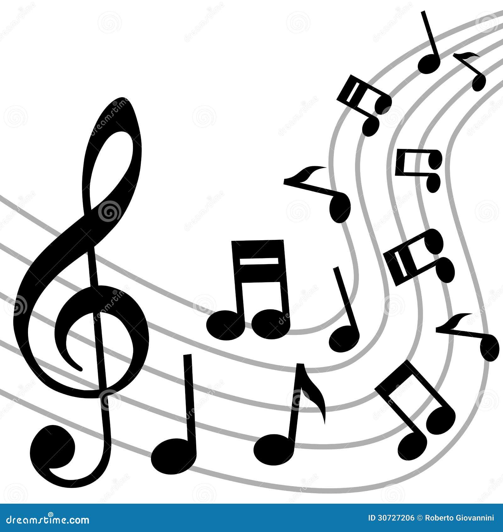 Muzyka Zauważa tło