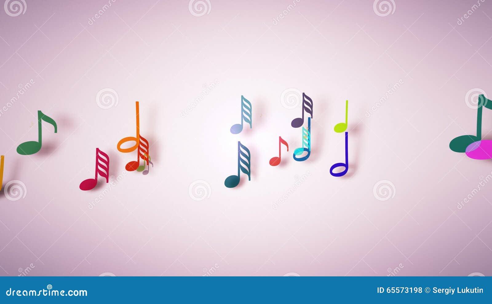 Muzykalne notatki z głębią pole