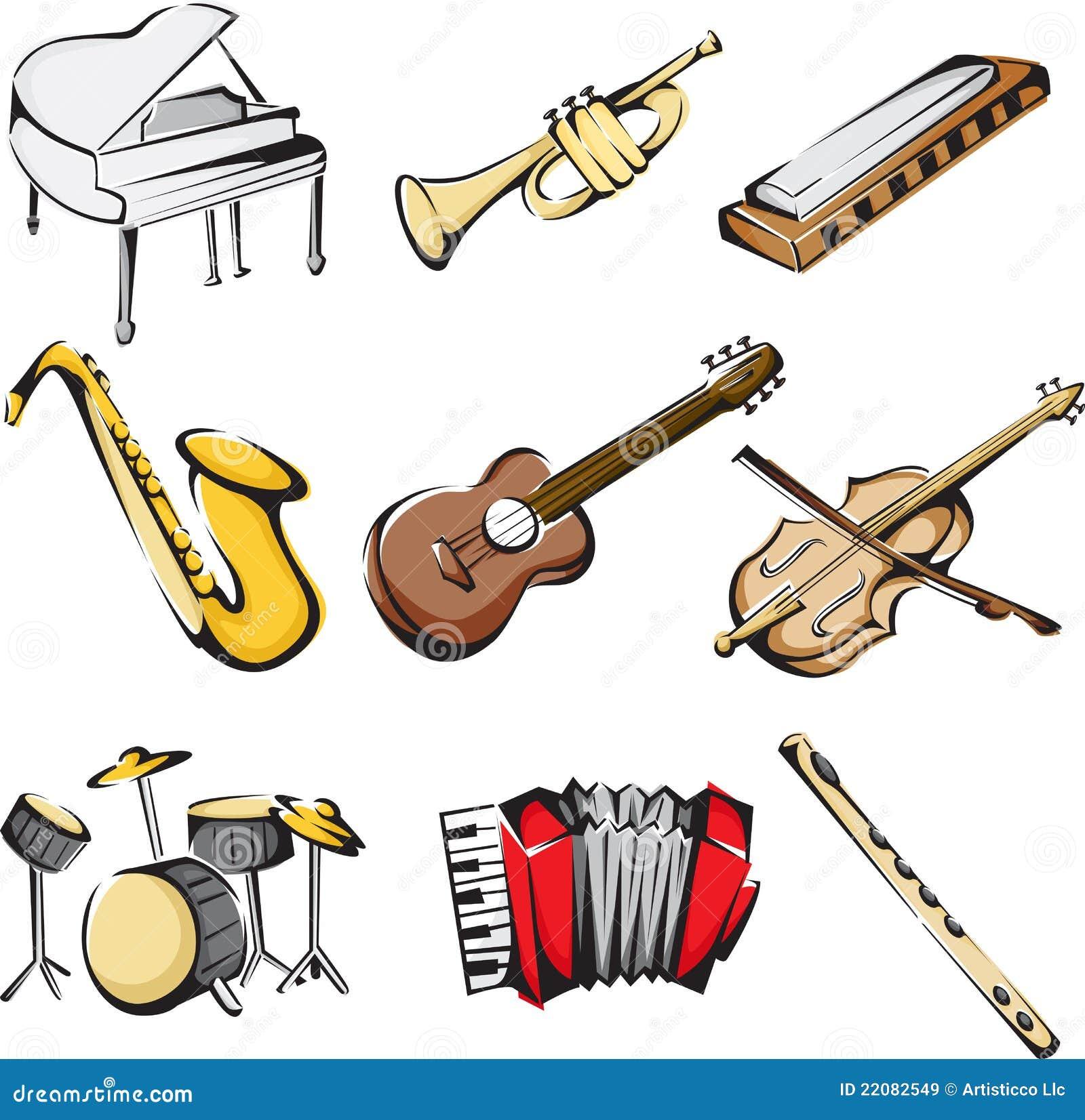 Muzykalni ikona instrumenty