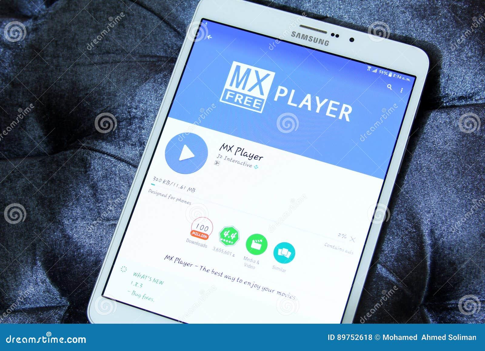 Mx player app editorial stock photo  Image of emblem - 89752618