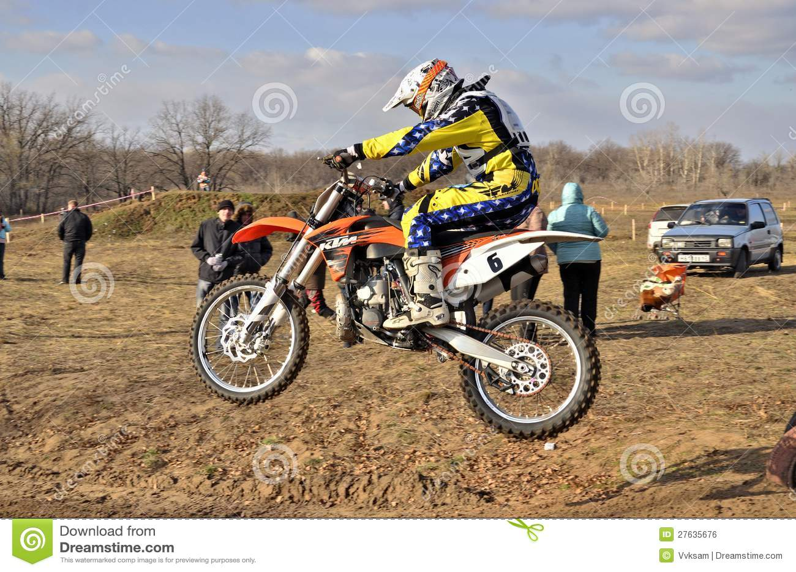 Motorsports mx rider turning falls — Stock Photo © 63vvksam #6903943