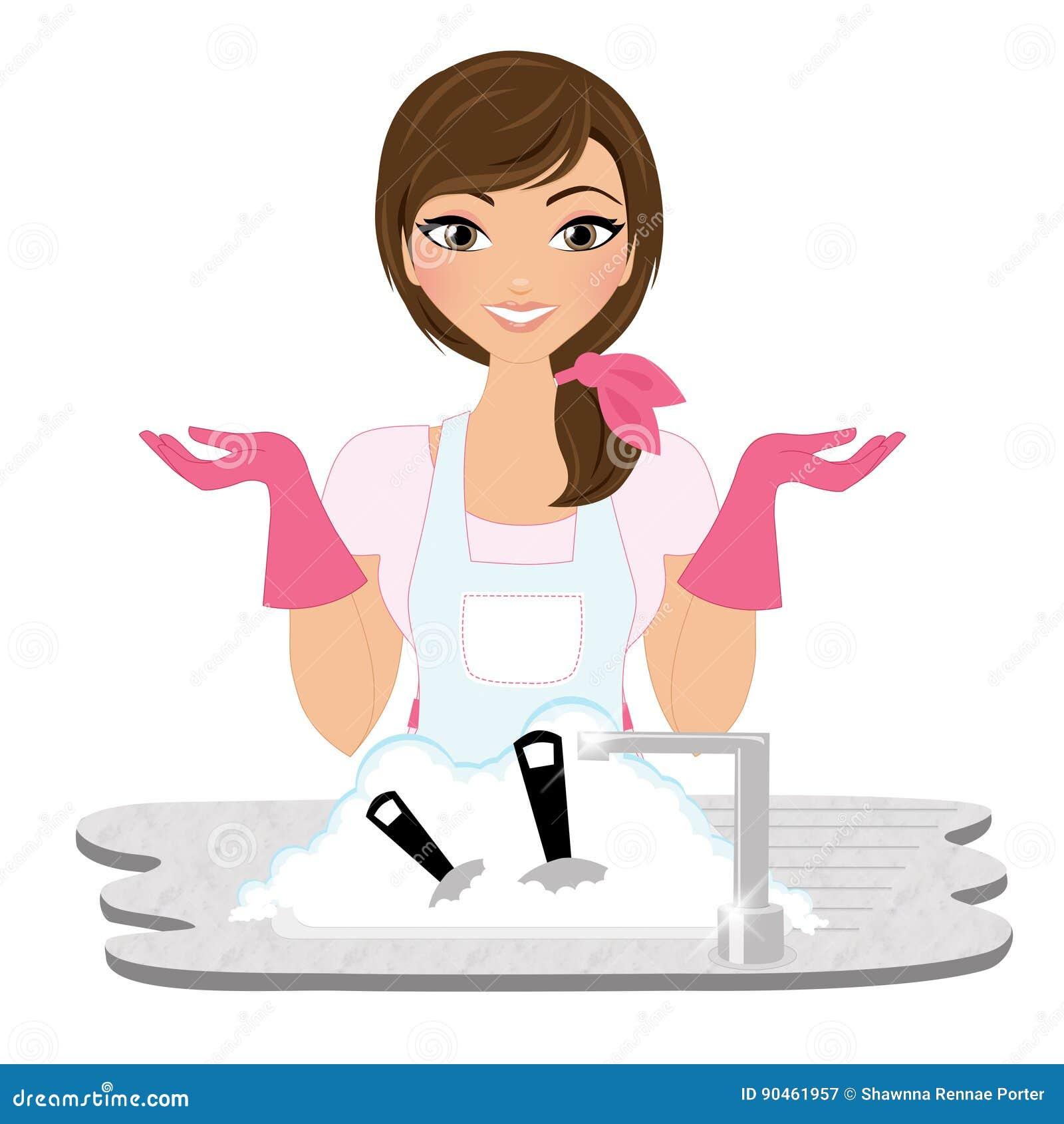 Myć naczynie kobiety