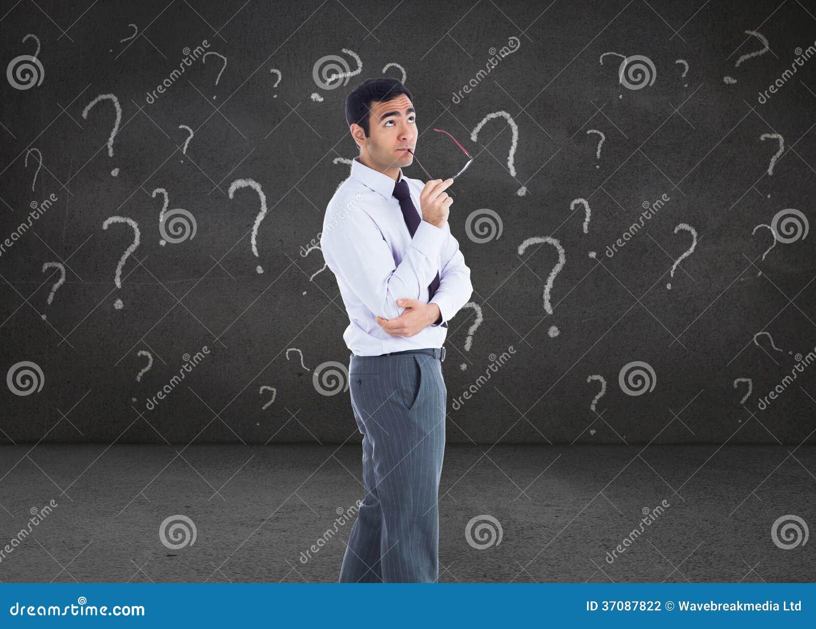 Download Myślący Biznesmen Trzyma Szkła Ilustracji - Ilustracja złożonej z korporacyjny, well: 37087822