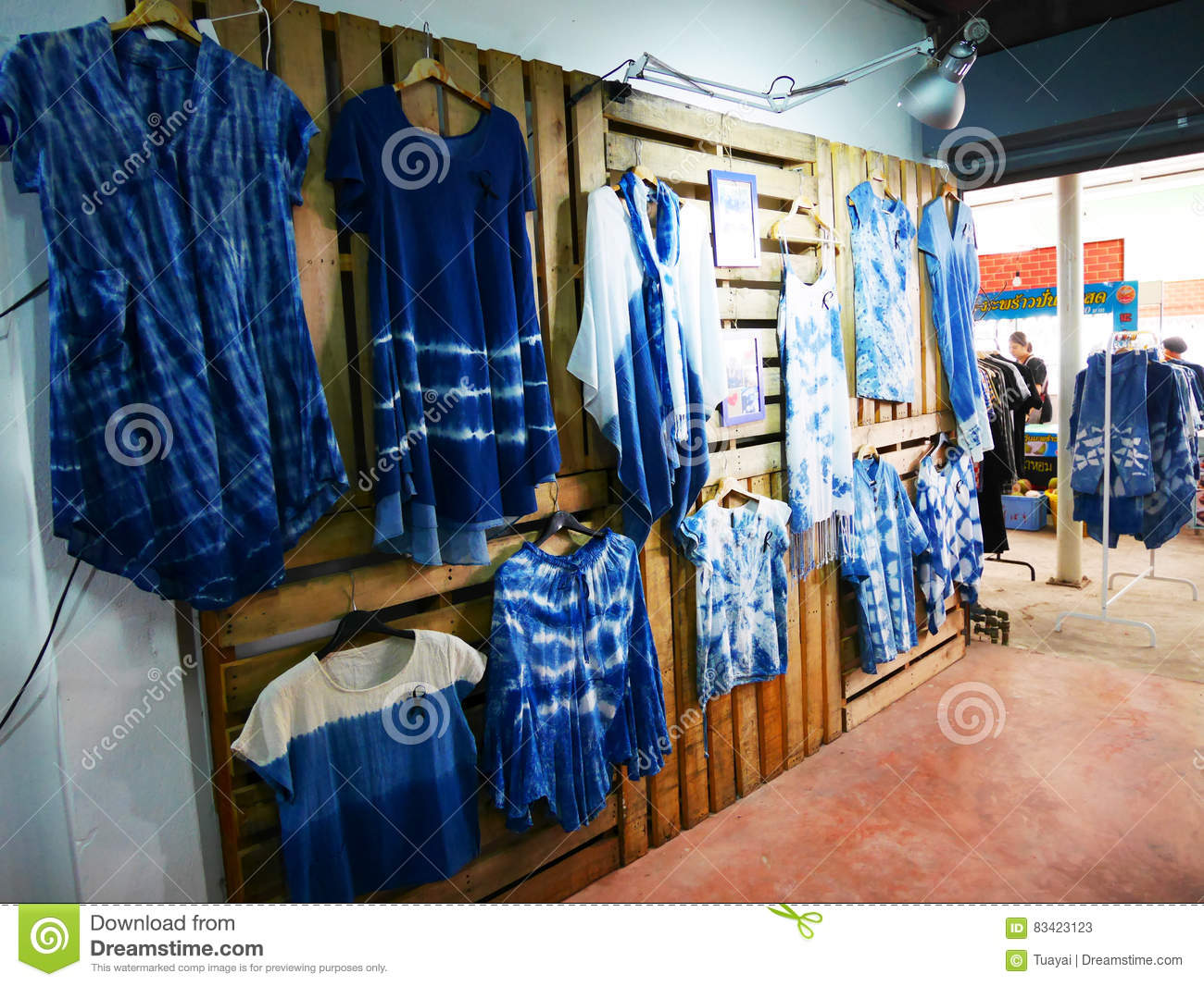 My Clothing Shop Fashion House Tie Batik Dyeing Clothes Mauhom I Editorial Stock Photo Image