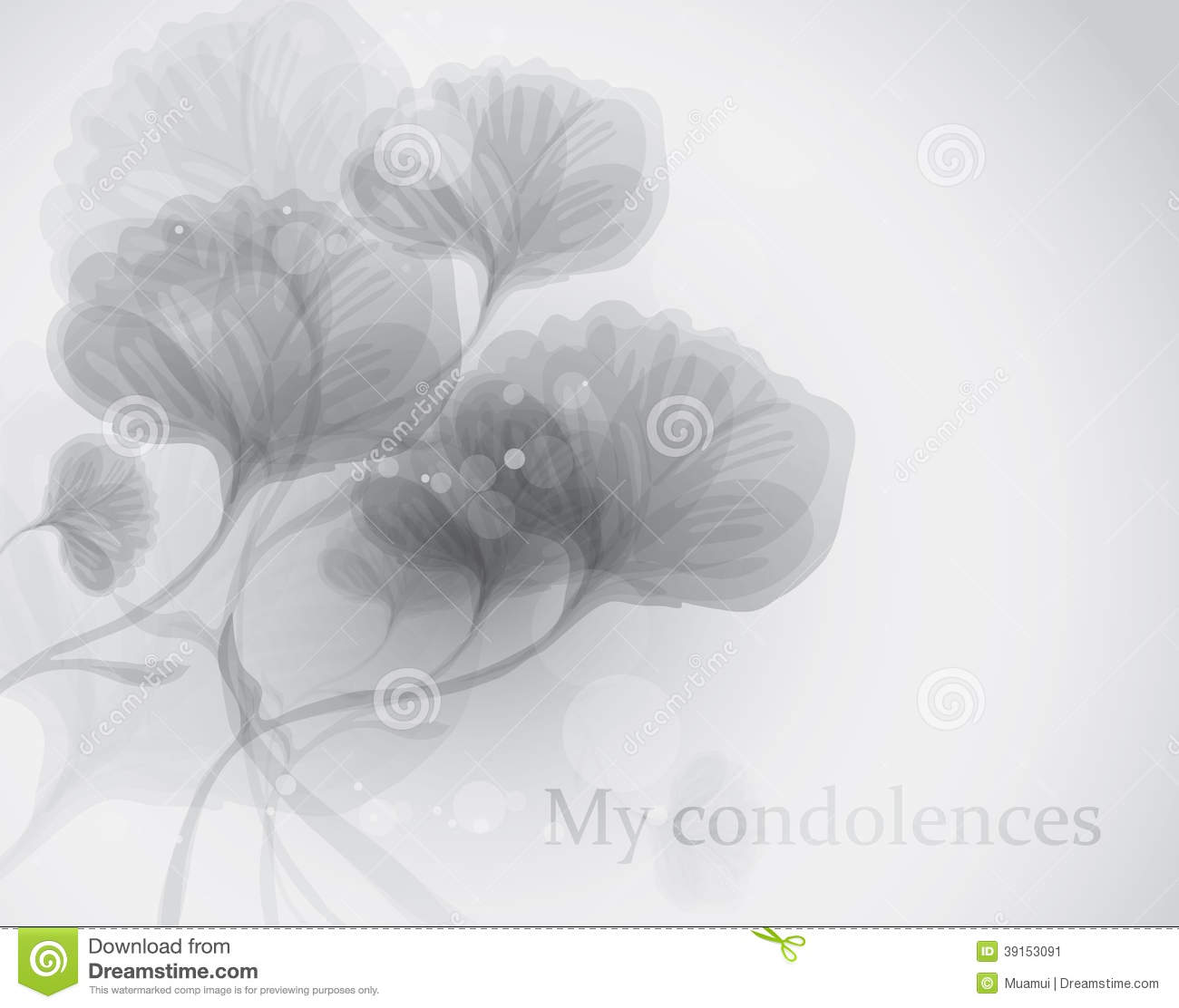 my condolences stock vector  image of blossom  evening
